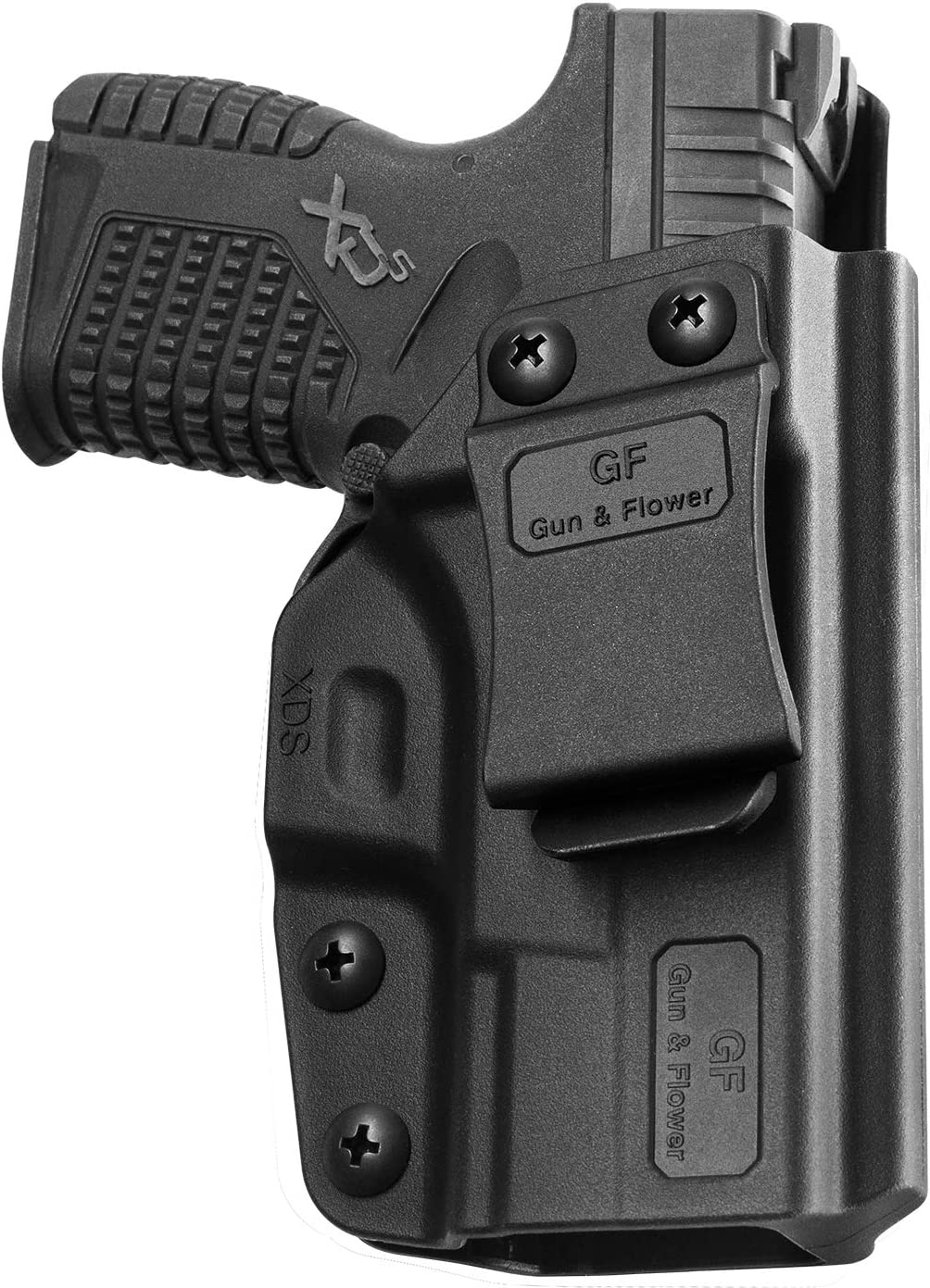 """IWB Holster Compatible Springfield XDS 45 Holster with laser XD-S 3.3"""" 9mm/.40S&W/.45ACP,Polymer"""