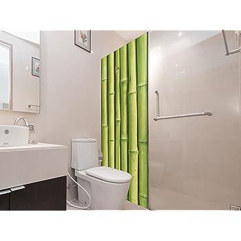 Vinilo para Mamparas Baños Bambú | Varias Medidas 185x60cm | Adhesivo Resistente y de Fácil Aplicación | Pegatina Adhesiva Decorativa de Diseño Elegante: Amazon.es: Hogar