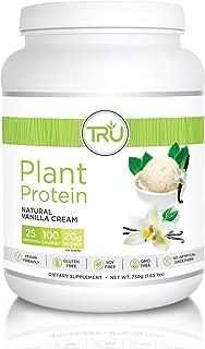 TRU Plant Based Protein Powder, Natural Flavor, Vegan & Keto Friendly, No Artificial Sweeteners, No Dairy, No Soy, 25 Servings (Vanilla)