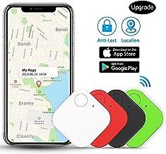 4 Pack Key Finder, Item Finder, Phone Finder, Bluetooth Tracker Smart Tag for Key, Item, Pets, Children Locating (Black)