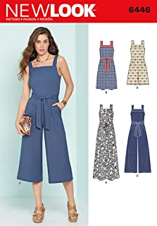 New Look Patterns Misses' Jumpsuits and Dresses A (6-8-10-12-14-16-18) 6446