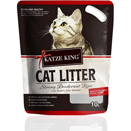Foodie Puppies Katze King Exclusive Scoopable Cat Litter with Strong Odour Control 10L - Pack of 1 (Multi Flavor)