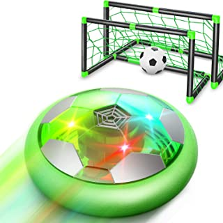 WisToyz Hover Soccer Ball Set Rechargeable Hover Soccer Set with Goals & Nets, Indoor Hover Soccer & Rubber Soccer Ball In...