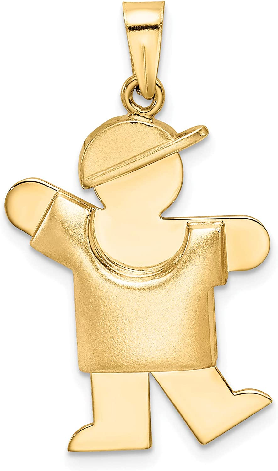 Mireval 14k Yellow Gold Puffed Boy C 40% OFF Cheap Sale Engravable with on Hat Very popular! Left