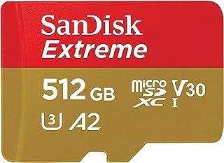 SanDisk 512GB Extreme microSD UHS-I U3 V30 A2 160MB/s- SDSQXA1-512G-GN6MN