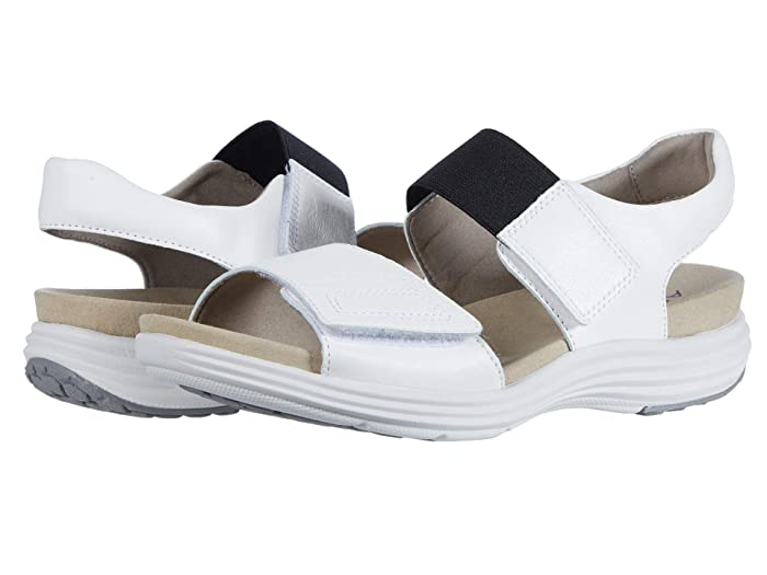 Aravon  Beaumont Two Strap (White) Womens Sandals
