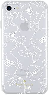 kate spade new york Cell Phone Case for iPhone 8/7/6/6s - White Dreamy Floral with Gems