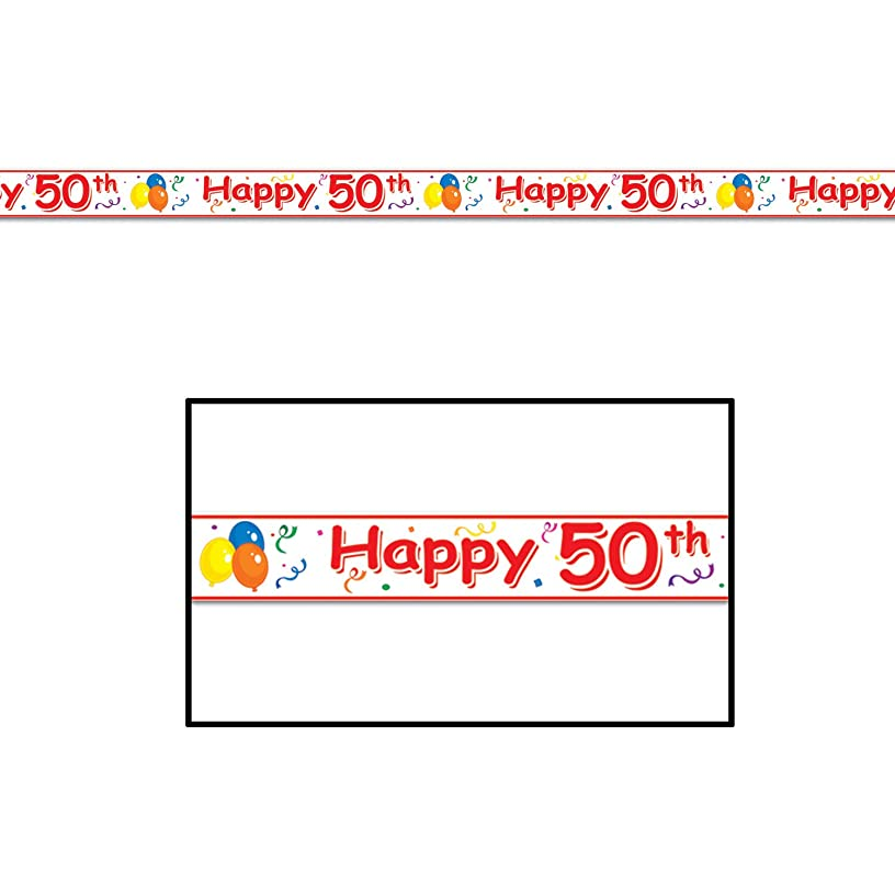 Happy 50th Party Tape Party Accessory (1 count) (1/Pkg)