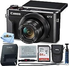 $599 » Canon PowerShot Digital Camera G7 X Mark II with Wi-Fi & NFC, LCD Screen, and 1-inch Sensor - (Black) 8 Piece Value Bundle
