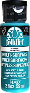 FolkArt Multi-Surface Paint in Assorted Colors (2 oz), 2921, Aqua