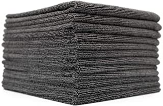 (12-Pack) 16 in. x 16 in. Commercial Grade All-Purpose Microfiber Highly Absorbent, LINT-Free, Streak-Free Cleaning Towels...