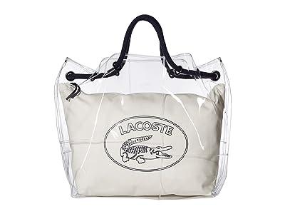 Lacoste Clear Shopping Bag (Black/Black/Turkish Delight) Handbags