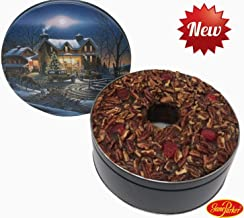 Jane Parker Dark Fruit Cake 48 Ounce Ring (3 Lbs.) in a Holiday Tin