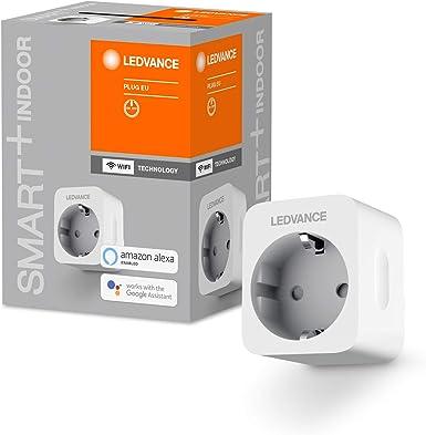 TALLA Multipack. LEDVANCE SMART + Enchufe controlable para WiFi, con medición de corriente, compatible con Google y Alexa Voice Control, paquete de 4