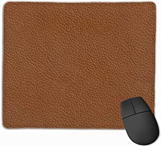Cheng xiao Mouse Pad Leather Texture Funny Art Rectangle Rubber Mousepad Non-toxic Print Gaming Mouse Pad with Black Lock Edge,9.8 * 11.8 in,ベーシック マウスパッド ゲーム用 標準サイズ