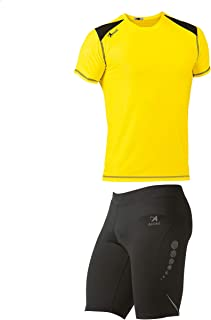 Asioka 115/17-182/17 Compression Mesh with Technical Combined T-Shirt Unisex Adult, Unisex_Adult, 115/17-182/17 NEG