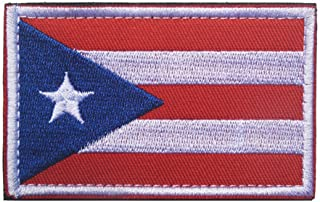 Puerto Rico Flag Patch Embroidered Military Tactical Flag Patches