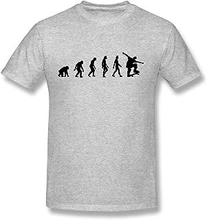 WSB Women's T-shirt New Design Skateboard Evolution Designed Tee Gray