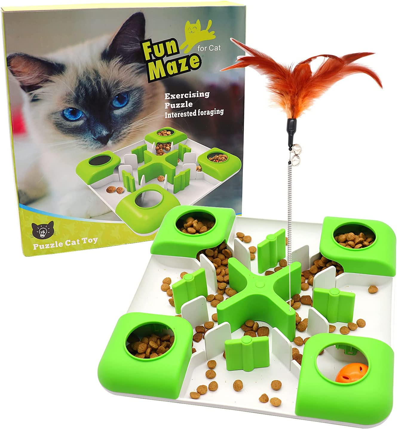 Cat A surprise price is realized Puzzle Feeder Treat security Toy Food Dispens Slow
