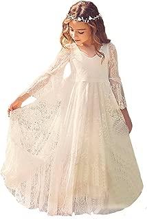 Fancy A-line Lace Flower Girl Dress 2-12 Year Old