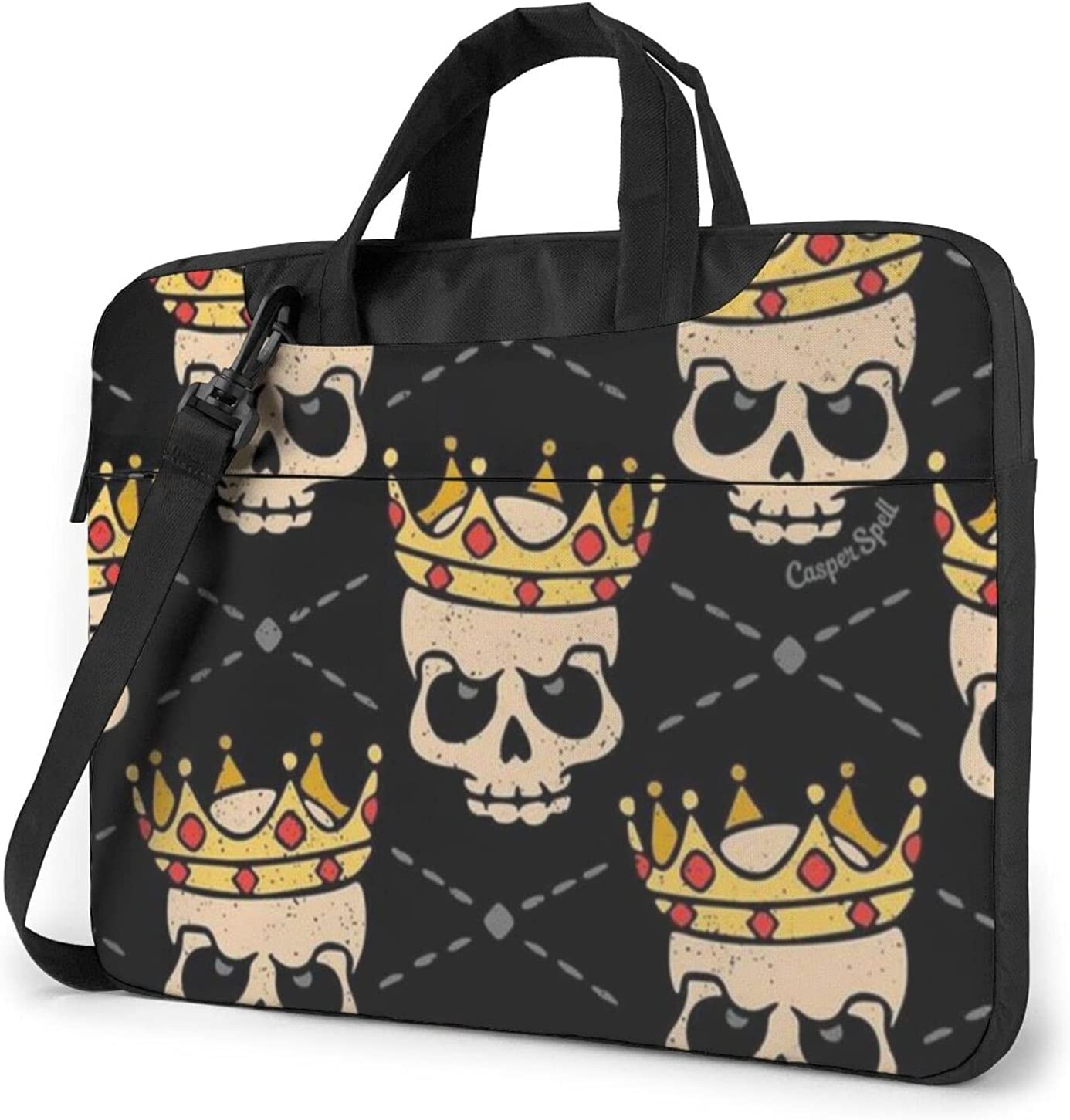 The Recommendation Skull Wore A surprise price is realized Crown Slim Shoulde Classic Crossbody Briefcase