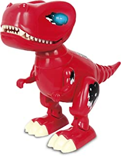 Haite Interactive Robot Dinosaur Toy, Walking Realistic Dinosaur with Sound, Built in Color- Changing LED Eyes, Glowls, Wags Tails, Gift for Kids/Boys/Girls, Red (Dinosaur Toy-Red)