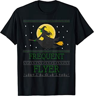 Frequent Flyer Ugly Halloween Witch T-Shirt