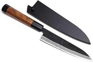 Yoshihiro Mizu Yaki Aogami Super Blue High Carbon Steel Kurouchi Petty Utility Knife (6'' (150mm) & Saya)