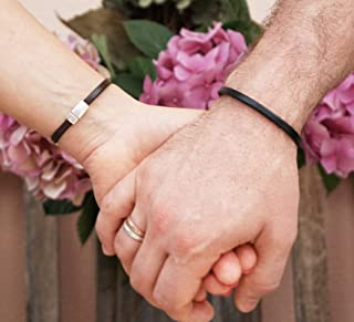 Matching Hidden Message Bracelets for Couples Custom Text Engraving