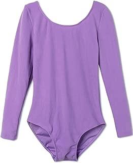 Girls Classic Long Sleeve Gymnastics Ballet Dance Leotard Sweat Absorbent One-Piece Tops Outfit Bodysuit Dancewear