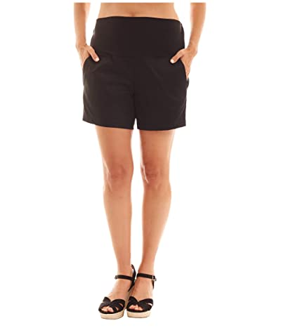 Everly Grey Kathleen Maternity Shorts (Black) Women