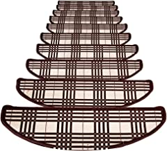 HAIPENG Self Adhesive Staircase Treads Carpet Pads Riser Floor Mats Non-Slip Stair Rugs Ottomans, Customized, 4 Sizes (Col...
