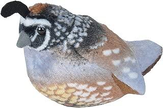 Wild Republic Audubon Birds California Quail Plush with Authentic Bird Sound, Stuffed Animal, Bird Toys for Kids and Birders