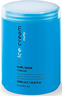 Inebrya Ice Cream Curl Mask Torrone Mask for Curly, Wavy and Permed Hair 33.8 Oz
