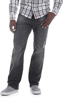 Wrangler Men's Straight-Fit Jeans with 4-Way Comfort Flex Fabric (Black, 40W x 32L)