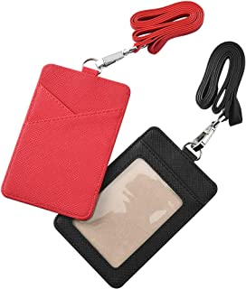 impermeabile Gogo verticale//orizzontale Porta badge in vinile trasparente confezione da 10 Misura unica Horizontal