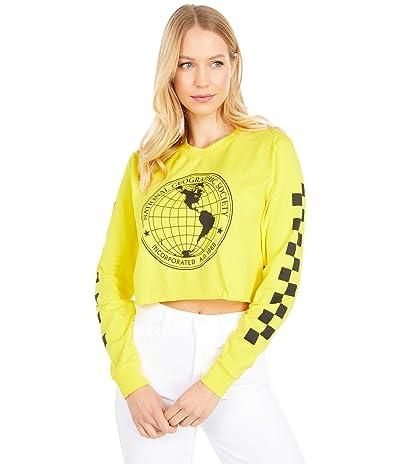 Vans Vans X National Geographic Long Sleeve Crop (Cyber Yellow) Women