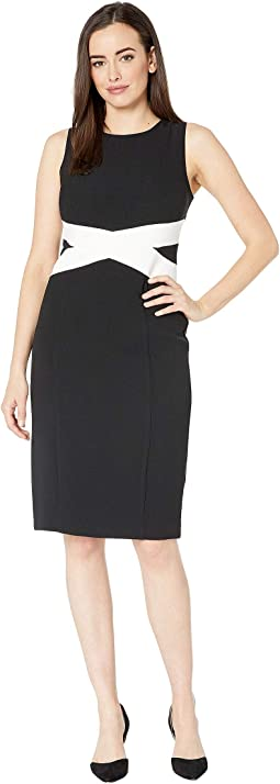 Kors Crepe Bodycon Dress with Contrast Paneling