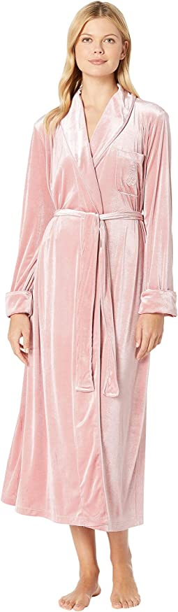 Velvet Long Shawl Collar Robe
