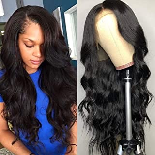Ali Funmi Body Wave 13x4 Lace Front Wigs 16 inches 10A Brazilian Human Hair Wigs for Women Pre-Plucked 130% Density with Baby Hair