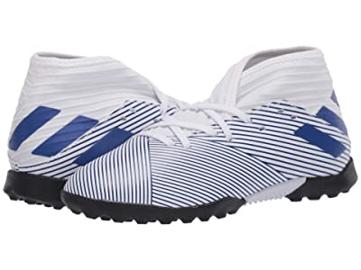 adidas Kids Nemeziz 19.3 TF J Soccer (Little Kid/Big Kid) (White/Team Royal) Kids Shoes