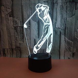 Jugar Golf Modelo LED 3D Night Light 7 colores intermitentes Touch LED Illusion 3D Lámpara para decoración de dormitorio Lámpara de escritorio