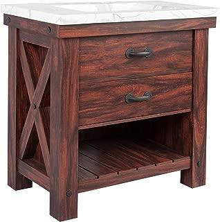 Best open wood vanity Reviews