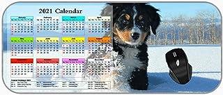 XXL Large 2021 Calendar Mouse Pad Winter Animal Cute Puppies Dog 2021 Calendar Mouse Mat