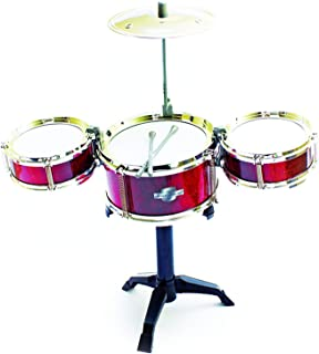 Fun Central Desktop Drum Set Musical Instrument Toy for Kids & Toddlers – Red