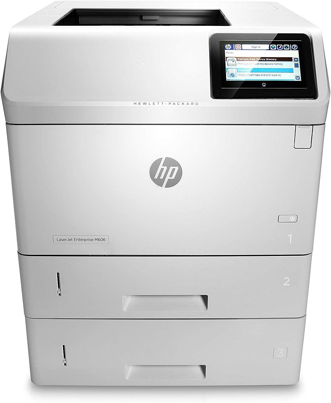 HP Monochrome Laserjet Enterprise M606x Printer w/HP FutureSmart Firmware, (E6B73A#BGJ) (Certified Refurbished)