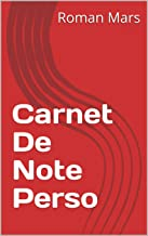 Carnet De Note  Perso (French Edition)