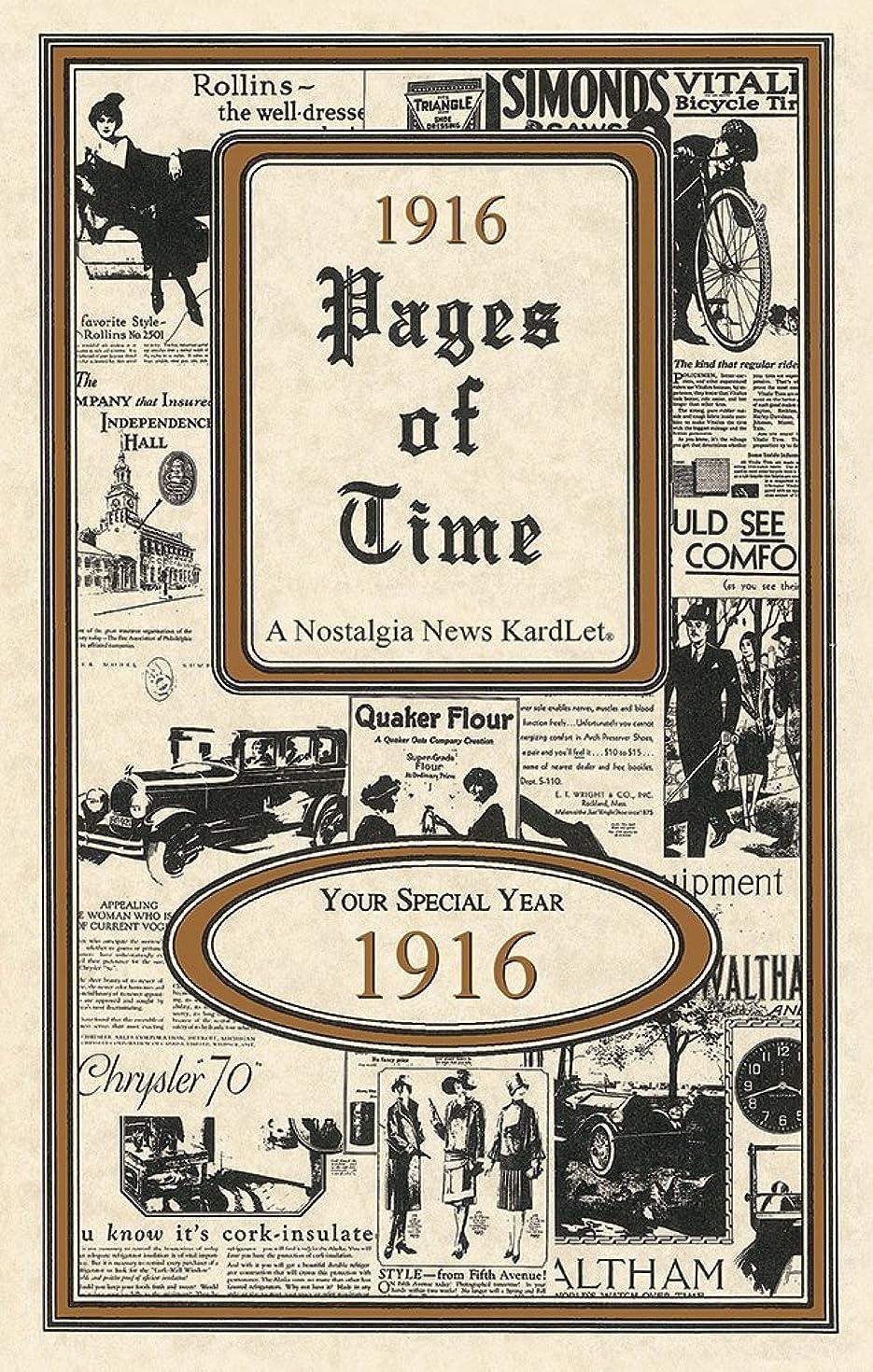 1916 Pages Of Time KardLet (PT1916)