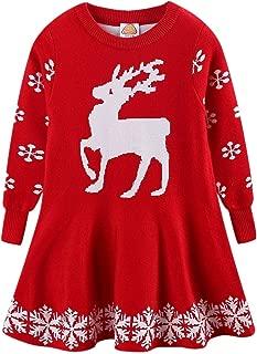 LittleSpring Little Girls' Sweater Dress Christmas Pullover