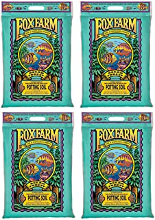 (4) FOXFARM FX14053 12 Quart Ocean Forest Garden Potting Soil Bags - 6.3-6.8 pH